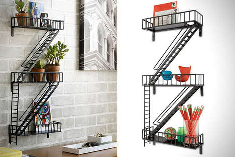 Fire Escape Shelves - The Fire Escape Shelving is the Perfect Gift for New Apartment Owners