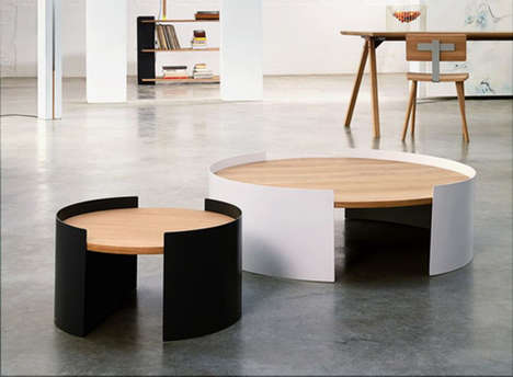 Contemporary Lunar Tables - This Unique Coffee Table is Chic and Cosmically Crafted