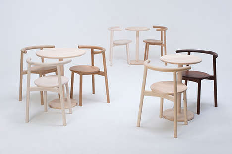 Simplistic Dining Chairs - Solo by Nitzan Cohen is Minimalist and Full of Character