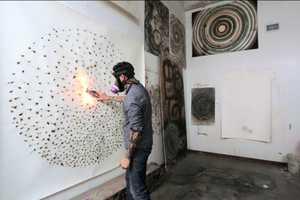 David Sena Creates Smokey Art with the Use of Fireworks
