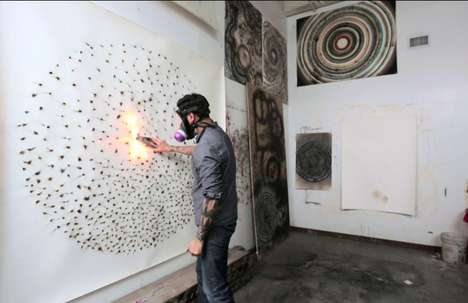 Explosive Firework Art - David Sena Creates Smokey Art with the Use of Fireworks