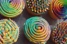 This Tie-Dye Cupcake Icing Looks Like a Rainbow