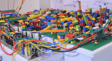 LEGO Sound Boards - Alex Allmont Created a Beat-Mixing Machine Using LEGO