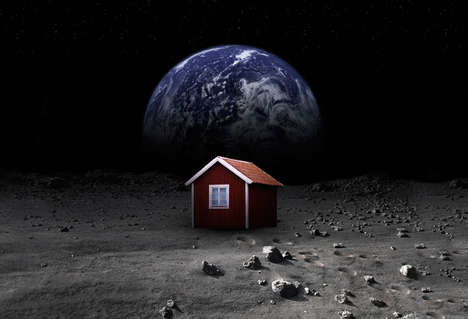Galactic Art Projects - The MoonHouse by Mikael Genberg Aims to Put a House in Space