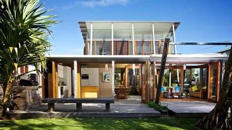 The Currumundi Beach House Uses Contrasting Substances
