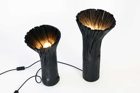 Hollowed Wood Lighting - Johannes Hemann Presents the Pressed Wood Black Collection