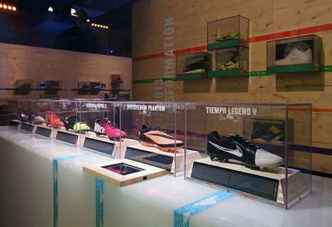 Shoe Progression Installations - The Genealogy of Innovation by Nike Moves Through the Decades