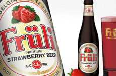 Softened Logo Branding - Fruli Strawberry Beer Received an Update by Gary Eley