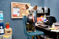 Professional Pooch Photography - Irina Werning Dresses Up a Hairless Dog as Various Professions