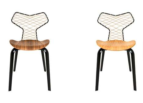 Angular Netted Seating - Grand Prix Chair by Han Kjobenhavn Modernizes Arne Jacobsen