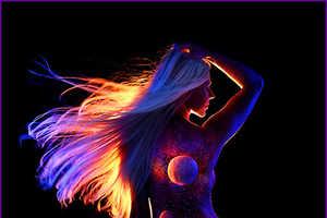 John Poppleton Uses UV Painting to Make Surreal Night Scenes