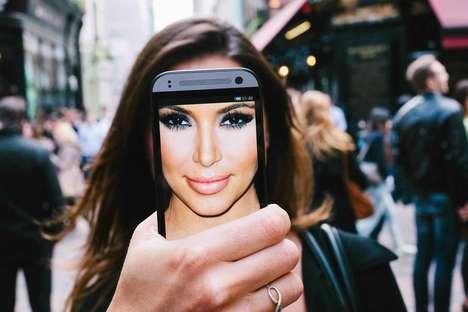 Mock Celebrity Selfies - Dan Rubin's 'Phonies' Mock the Selfie Phenomenon with Celeb Faces