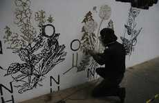 Medicinal Marijuana Murals - Alexandre Farto is Creating a Mural That Promotes Medical Marijuana
