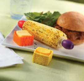 Suction-Featuring Butter Dishes - The Butter Buddy From Outset Makes Buttered Corn Without the Mess