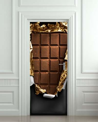 Chocolate Door Decals - This Sweet Sticker From Pulaton Resembles an Enormous Chocolate Bar