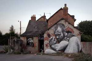 MTO Created a Series of Giant Murals That Depict Giants on the Sides of Homes