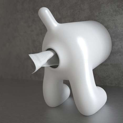 Toilet Paper Canine Containers - This Crass Bathroom Tissue Dispenser Resembles a Dog