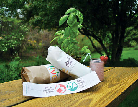 Plantable Gourmet Packaging - Live Food Bar Packaging by Amelia Roblin Grows Garden Herbs