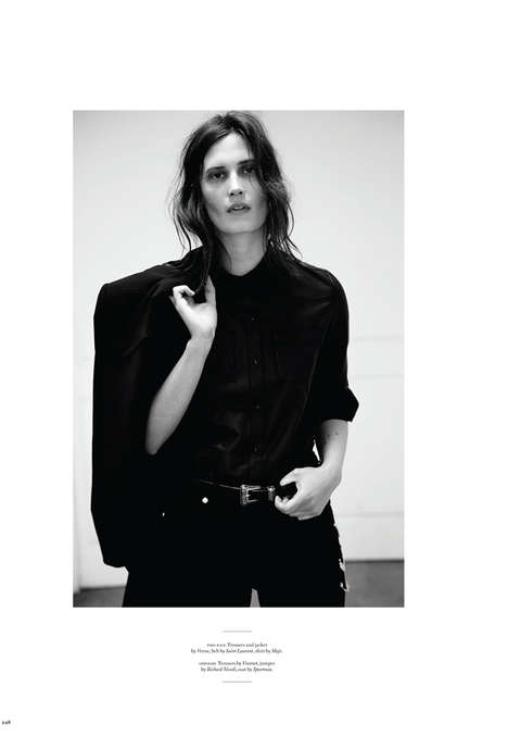 Structured Rocker Chic Editorials - The Twin Magazine Drake Burnette Photoshoot Features Sleek Looks