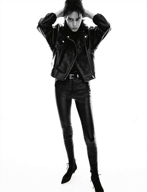 Retro Greaser Editorials - The Vogue Germany Dark Bloom Photoshoot is Vintage-Themed