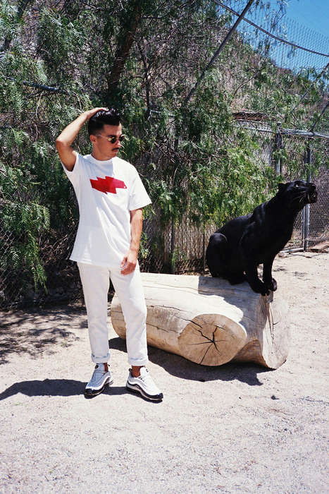 Powerful Panther Lookbooks - The Rare panther SS 2014 Lookbook Features an Improbable Guest