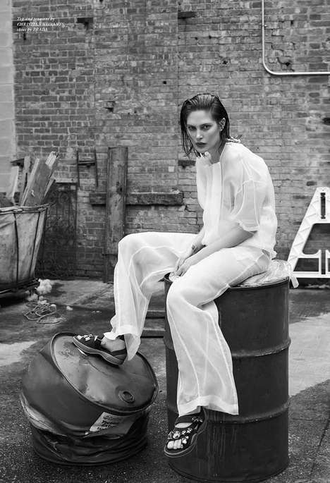 Gritty Androgynous Editorials - The Spring/Summer 2014 Rika Magazine McNeil Photoshoot is Ambiguous
