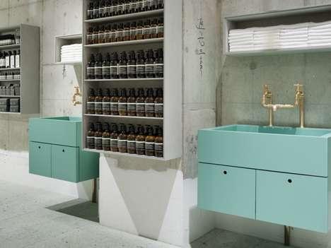 Apothecary-Inspired Retail Spaces - Torafu Architects' Aesop Kawaramachi Store Embodies Minimalism