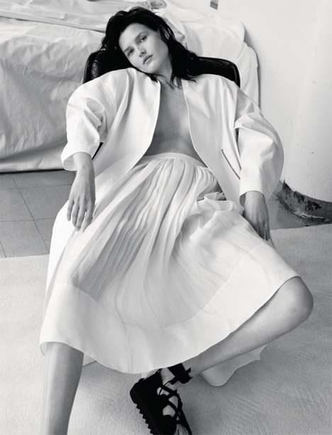 Relaxed Alabaster Editorials - Katlin Aas Shines in the Numéro Russia June 2014 Issue