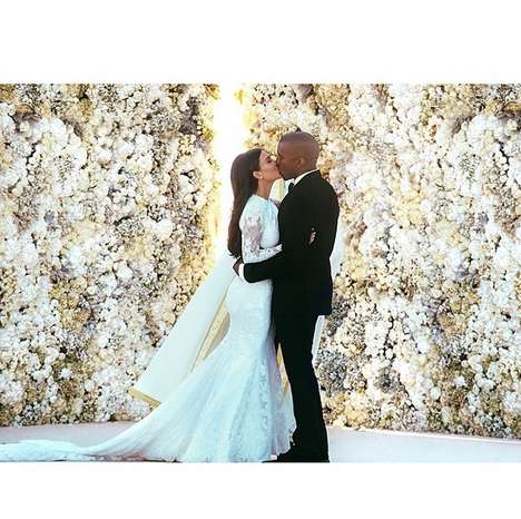 Ceremonial Celebrity Snapshots - The Kanye and Kim Wedding Photo is Now Instagram