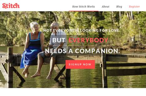 Old Age Dating Sites - 'Stitch' is a Dating Site Specifically for Those Over 50