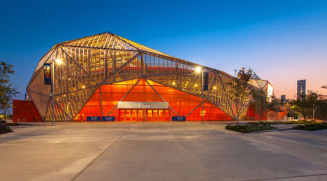 Tessellated Exterior Stadiums - The BBVA Compass Stadium Has a Dynamic Exterior