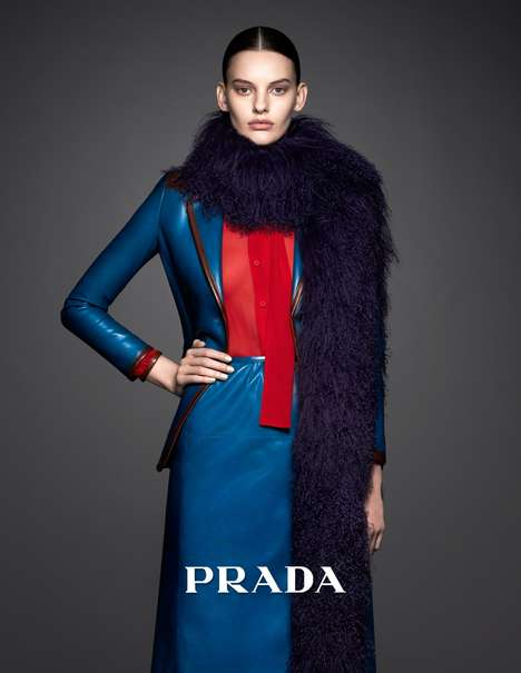 Boldly Sophisticated Fashion Ads - The Prada Pre-Fall 2014 Campaign Stars Model Amanda Murphy