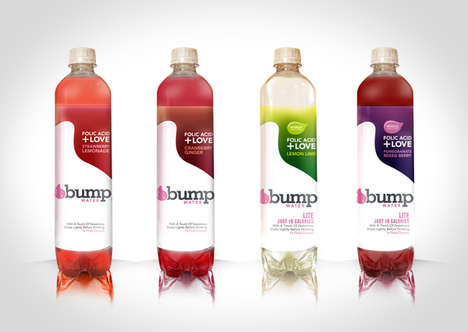 Healthy Prenatal Beverages - Bump Water is a Vitamin and Mineral Drink for Women Who Are Pregnant