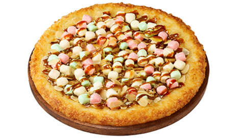Marshmallow Pizzas - Pizza Hut Japan is Teaming Up with a Candy Company to Create a Peculiar Pizza