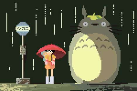 Pixelated Anime Artworks - These Richard Evans Creations Pay Tribute to
