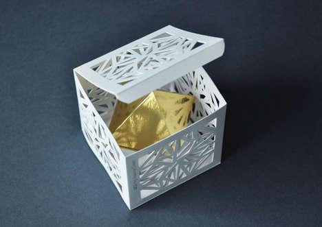 Ornamental Skincare Boxes - Gaba Guzik's Hand Cream Packaging Concept Adopts an Unusual Shape
