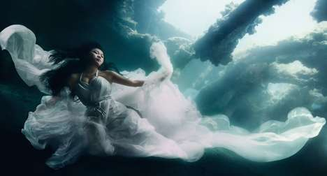 Ethereal Shipwrecked Shoots - An Underwater Shoot by Benjamin Von Wong Used 7 Divers and 2 Models