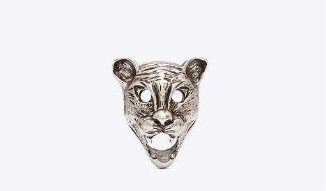 "Fierce Jungle Cat Accessories - The Saint Laurent Fall/Winter 2014 ""Lynx"" Jewelry Collection"