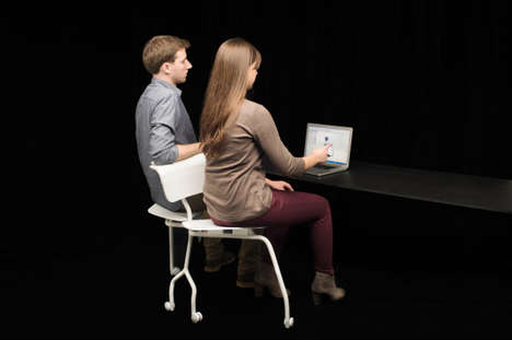 Dual Seat Desk Chairs - The Modern Chair Called The Invitation Chair Seats Two People