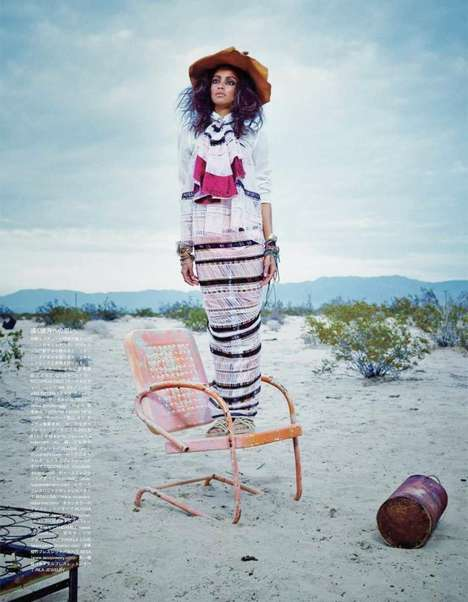 Quirkily Exotic Editorials - The Vogue Japan