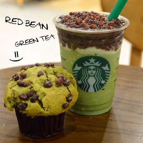 Bean-Topped Frappuccinos - Starbucks is Serving Up Red Bean Green Tea Frappuccinos in Hong Kong