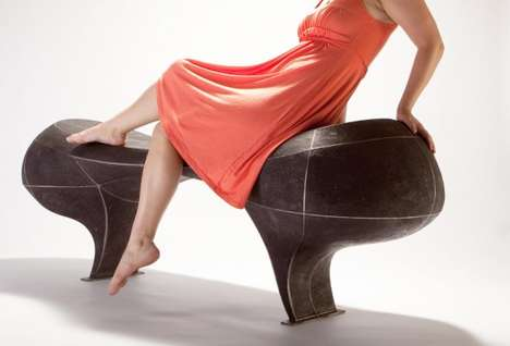 Sculptural Grid Seating - The Infrastructure Series by Vivian Beer is Sensuously Curved
