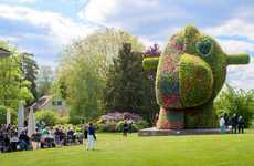 Cartoonish Floral Sculptures