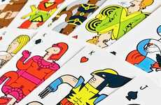 Superhero Playing Cards - These X-Men Themed Playing Cards are Funky and Vibrant