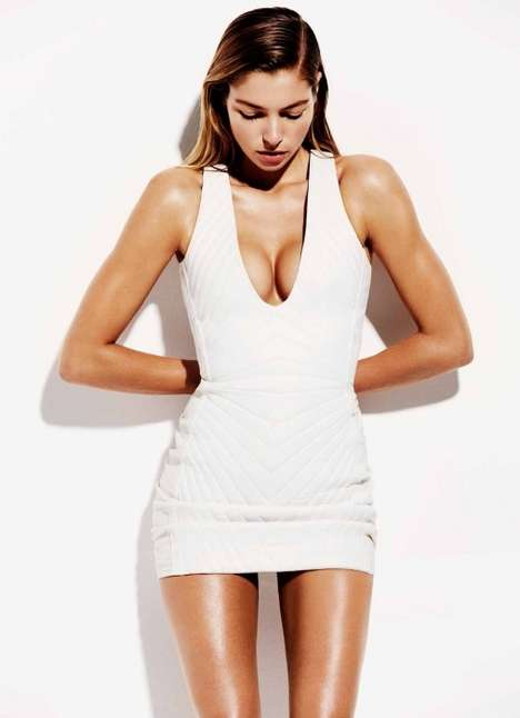 White-Hot Editorials - Jessica Hart Stuns in the Harper's Bazaar Australia Issue