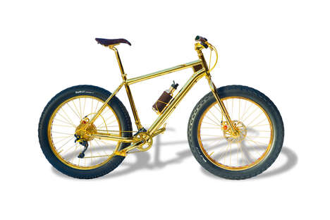 Opulent Golden Bicycles - The 24-Karate Gold Extreme Mountain Bike is Ultra Luxurious