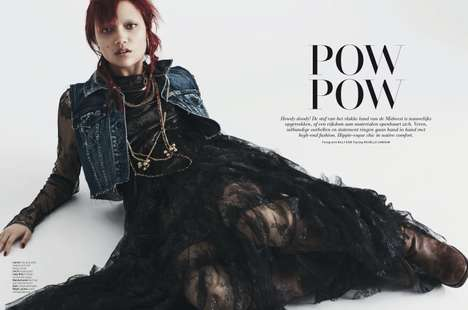 Punk Cowgirl Editorials - The L'Officiel Netherlands Photoshoot Stars Charlotte Carey