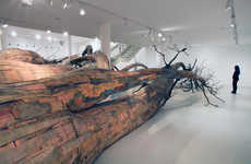 Gargantuan Root Installations - Artist Henrique Oliveira's Recycled Wooden Trunks are Incredible