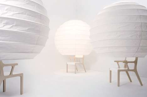 Lantern-Like Seating - Object O by Song Seung-Yong is Inspired by Korean Paper Lights