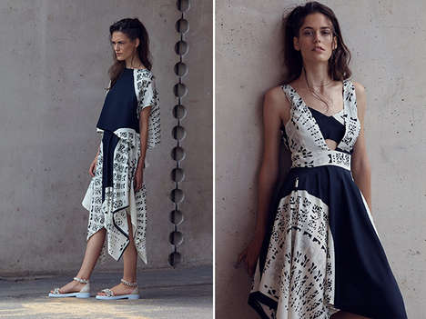 Understated Graphic Apparel - Carin Wester's Latest Collection Plays With Structure and Print
